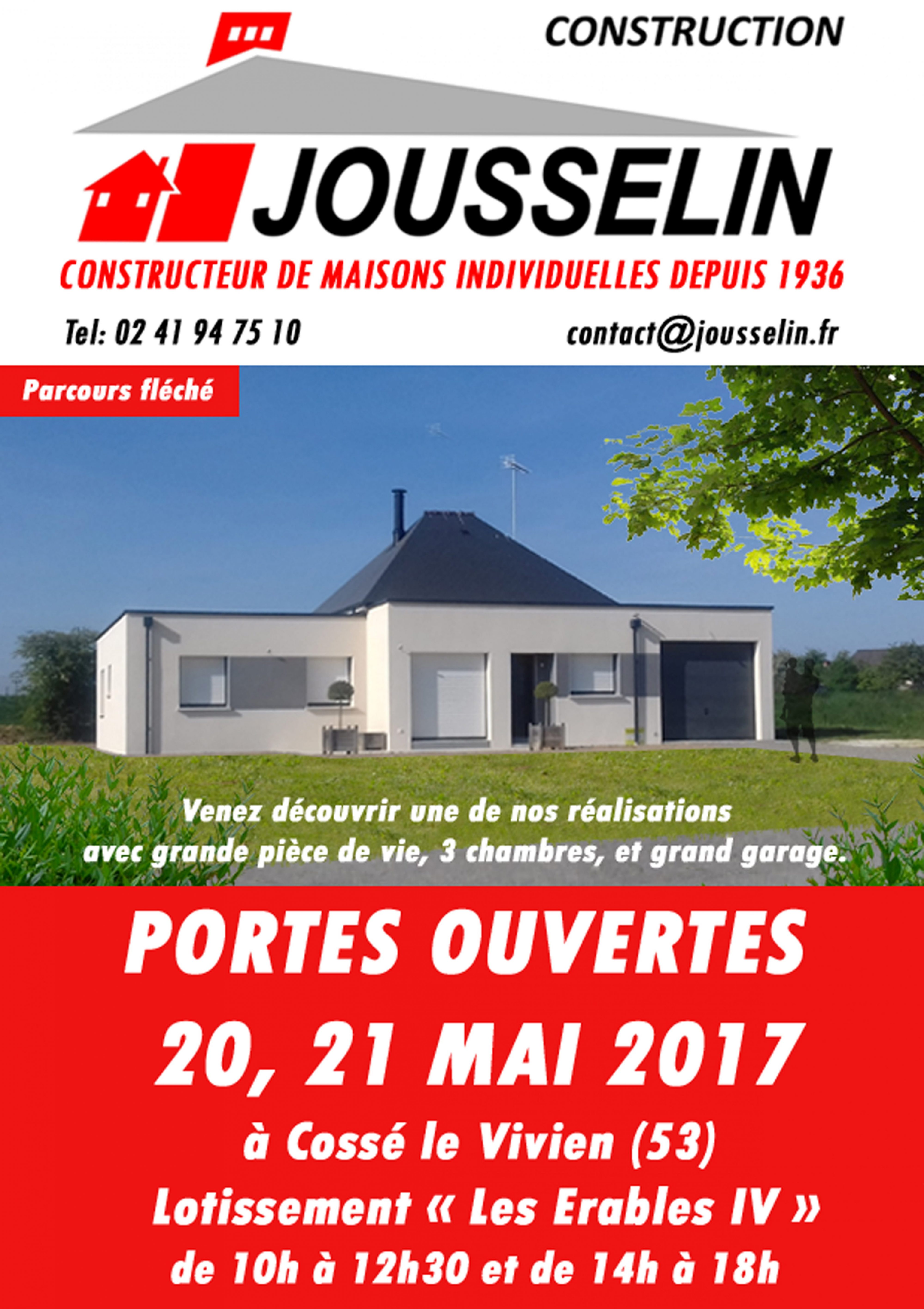 PORTES OUVERTES 20 et 21 Mai 2017 à Cossé Le Vivien (53)